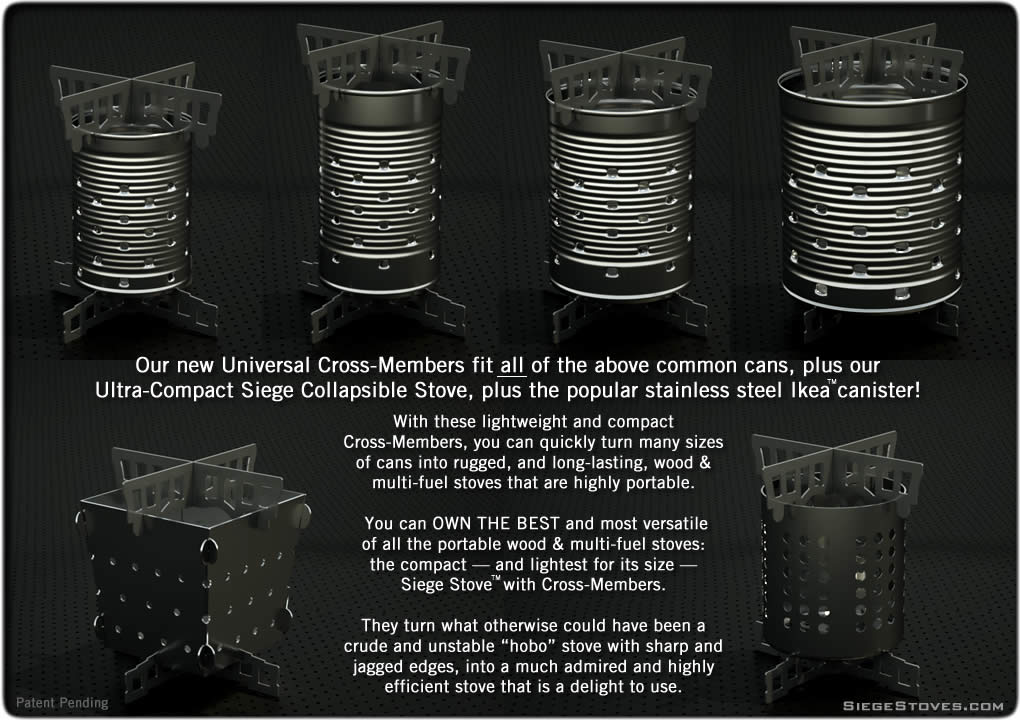 Universal Siege Stove Cross-Members