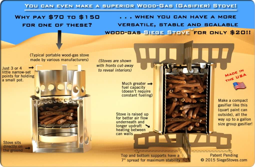 Pictures of Wood-Gas / Gasifier Stoves, Description - Make The Best IKEA Hobo Stove Possible With The Siege Stove Cross